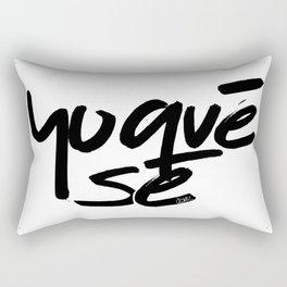 """""""Yoquésé"""" [Copyright] Mar Cantón, 2017 Rectangular Pillow"""