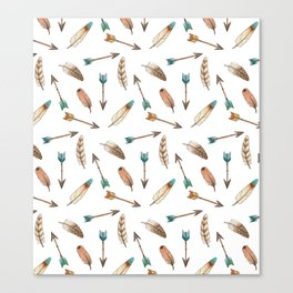 Scattered Feathers and Arrows Canvas Print