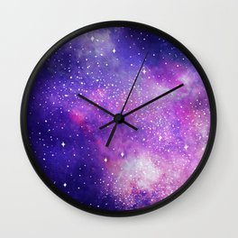 Space Nebula Galaxy Stars Wall Clock