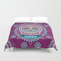 mexican Duvet Covers featuring Mexican Skull by Xonomitl