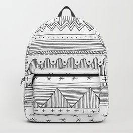 simple black and white fine line drawing Backpack