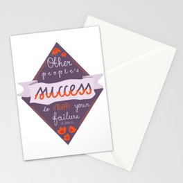 other people's success... Stationery Cards