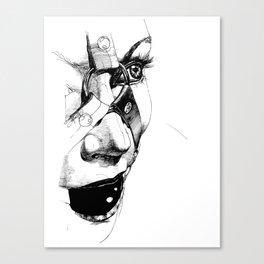 Ball Gagged Canvas Print