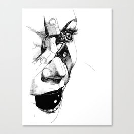Ball Gagged Canvas Print