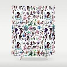 Cute Steven Universe Doodle Shower Curtain