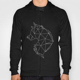 Geometric Wolf (White on Black) Hoody