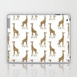 Gold Glitter Giraffe Pattern Laptop & iPad Skin