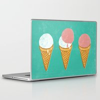 icecream Laptop & iPad Skins featuring Icecream by atomic_ocean