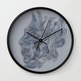 Wings of Winter Wall Clock