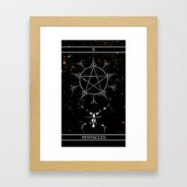 A Tarot of Ink 10 of Pentacles Framed Art Print