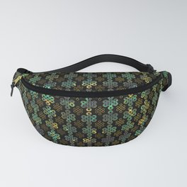 Endless Knot Pattern - Gold and Marble Fanny Pack