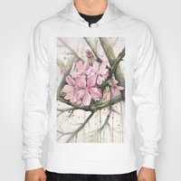 cherry blossom Hoodies featuring Cherry Blossom by Olechka