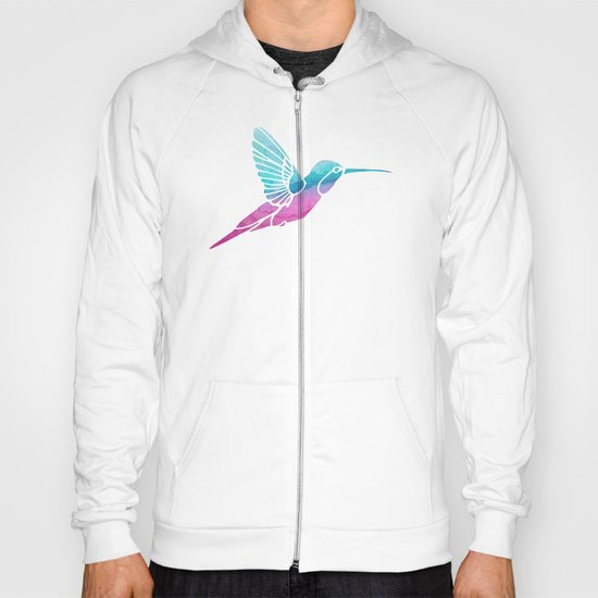 Watercolor Hummingbird Hoody