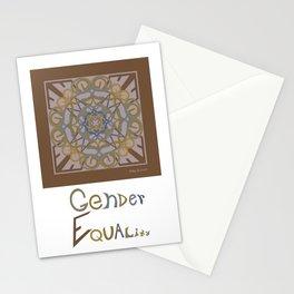 Gender Equality - Brown Olive Stationery Cards