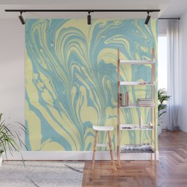 Marble of Yellow & Green Wall Mural