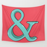 ampersand Wall Tapestries featuring Ampersand by Chelsea Herrick