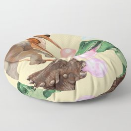 Playful Dinosaur Bubble Gum Gang Floor Pillow