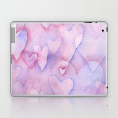 Pink Hearts Pattern Laptop & iPad Skin