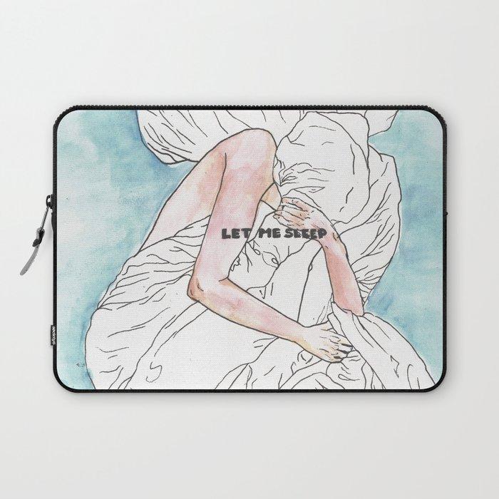 Let me sleep colored Laptop Sleeve