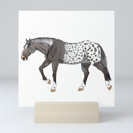 Grulla Extreme Blanket Appaloosa Horse Mini Art Print