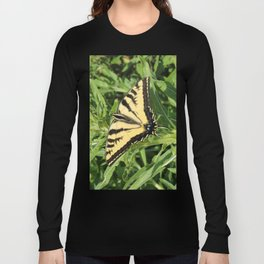 Swallowtail at Rest on Greenery Long Sleeve T-shirt