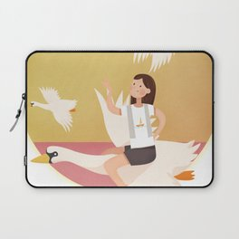 Fly Girl And White Swan Laptop Sleeve