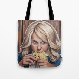 Eleven eats an Eggo - Stranger Painting Things Tote Bag