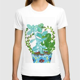 Indian Pot with Succulents T-shirt