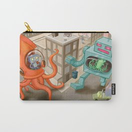 Squid vs Robot Carry-All Pouch