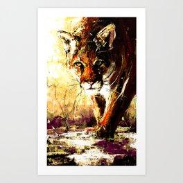 Creepin' Cougar Art Print