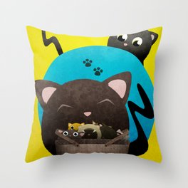 Mommacat Throw Pillow