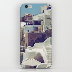 Streets of Santorini III iPhone & iPod Skin