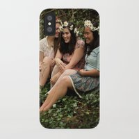 fairies iPhone & iPod Cases featuring Forest Fairies by Frances Dierken