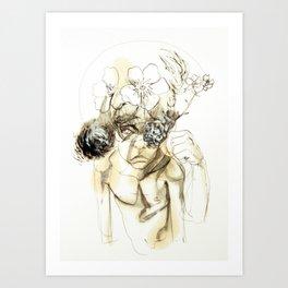 Tristan Corbière, Thick Black Trace, Petit mort pour rire Art Print