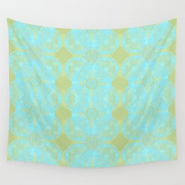 turquoise lace Wall Tapestry