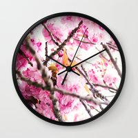 martell Wall Clocks featuring Seattle Blossoms by G Martell