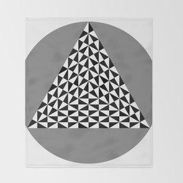 Black and White Puzzle Trigon Throw Blanket