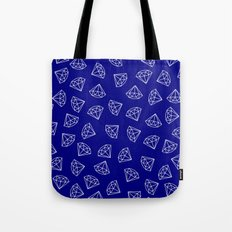 Navy Blue Diamond Pattern Tote Bag