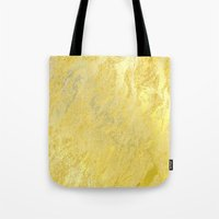 gold foil Tote Bags featuring Gold Foil by Sweet Karalina