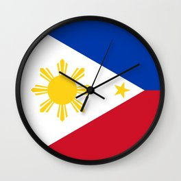 Republic of the Philippines national flag (50% of commission WILL go to help them recover) Wall Clock