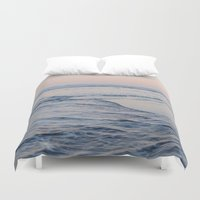 pacific rim Duvet Covers featuring Pacific Dreaming by Leah Flores