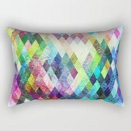 Diamond Bright Painted Design Rectangular Pillow