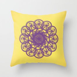Cycle Circle Throw Pillow