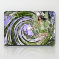 pixies iPad Cases featuring Green Flower fairy by Just Kidding