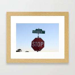 Oceanview Blvd Framed Art Print
