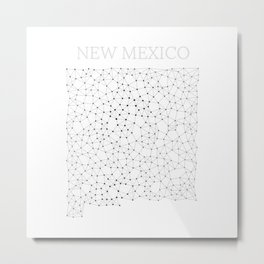 New Mexico LineCity W Metal Print
