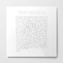 New Mexico LineCity W Metal Print