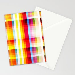 classic multicolored retro pattern Stationery Cards