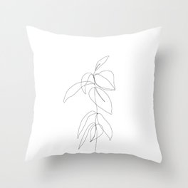 Still life plant drawing - Caca Throw Pillow