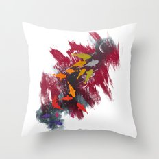 Aiming for the moon Throw Pillow
